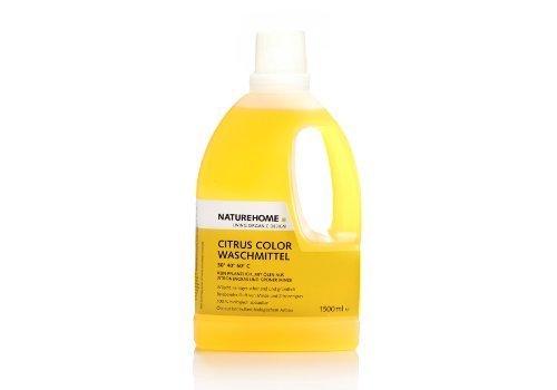 NATUREHOME Bio-Waschmittel flüssig ideal für Buntwäsche I VEGAN I Color-Waschmittel mit natürlichem Zitrone-Minze-Duft I 1,5L