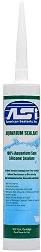 ASI Black Aquarium Silicone Sealant- 10.2 Oz Cartridge