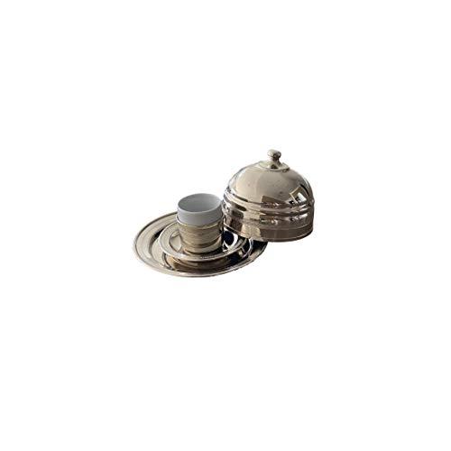 Babila Home Istanbul Collection | türkisch handgefertigt, dekorativ, orientalisch, echt Silber Kaffeetasse Glasbecher | Geschirr |...