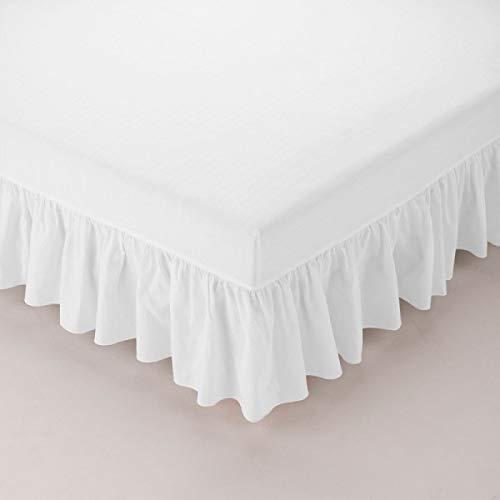 Lattenbodem voor eenpersoonsbed, 120 x 190 cm, wit – ruschenwiel 3 zijden – dienblad