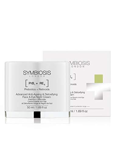 SYMBIOSIS LONDON   [ Prebiòticos + Retinoides ] Crema Avanzada de Noche Cara y Ojos Antiedad Detoxificante   1x50mL