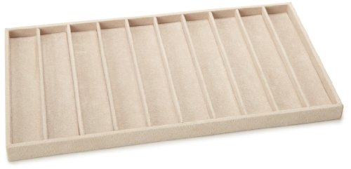 WOLF 435770 Vault Tray Necklace Insert, Beige