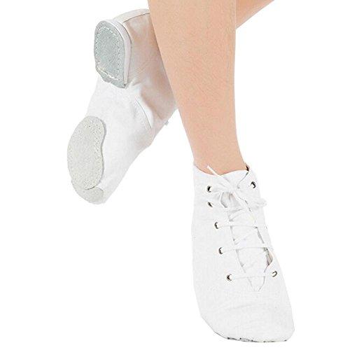 ELEAR® Unisex Erwachsene Kinder Reine weiche Canvas Toe Ballet Tanzschuhe Schnürschuhe Jazzschuh - 2