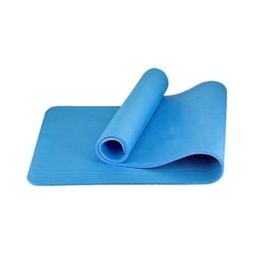 MOTOCO Yogamatte Fußmatten aus Hochdichtem Schaumstoff rutschfest Trainingsmatte – 183X60X1CM – für Gym Yoga Sport Gymnastik Fitness Pilates(180X60X1CM.Blau)