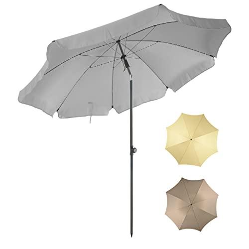 4smile Sonnenschirm SunnyJoy – UV 50+ Gartenschirm Strandschirm Balkon-Sonnenschirm 200cm, knickbar Anthrazit - kleine Sonnenschirme zaubern Ambiente