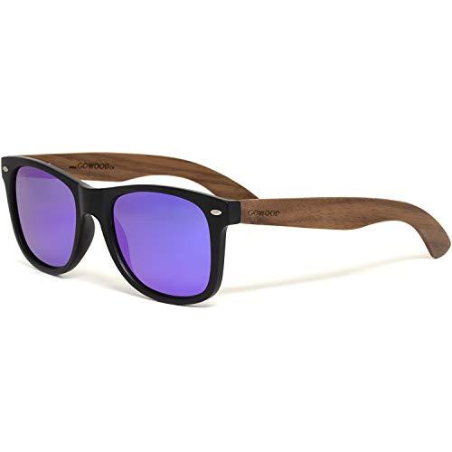 GOWOOD Gafas de sol para hombre y mujer con patillas de madera...