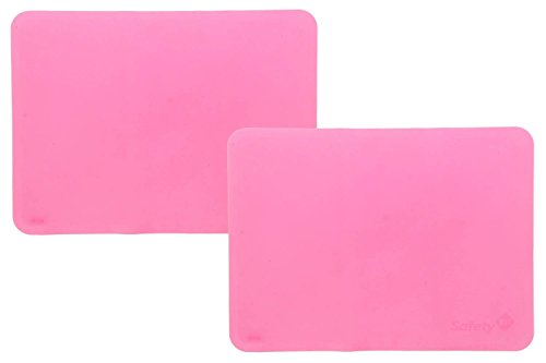 Safety 1st Silicone Placemats- Pink 2pk- Grips Tabletop, Protects Child from Germs, and Easy Clean