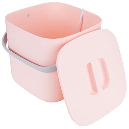 Liyeehao Lavadora de Ropa, Lavadora portátil, Mini hogar de 8L para Dormitorio en casa(Pink)
