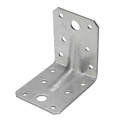 Winkelverbinder Lochwinkel verzinkt 90 x 90 x 65 2,5 mm Winkel mit Rippe Art. Nr. 64199025 (50 Stück)