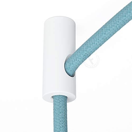 Sujeta cables color blanco para techo con prisionero - Accesorios para lámparas
