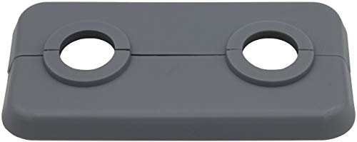 5 Stück Doppel-Rosette für Heizungsrohre in Fenstergrau (RAL 7040), Abdeckung für Heizungsrohre, Heizung, 2-teilig, 15mm, 16mm, 18mm, 21,3mm Polypropylen in Sonderfarben (21,3mm, RAL 7040)