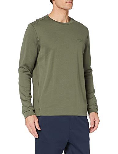 BOSS Herren Salbo Sweatshirt, Dark Green306, XL