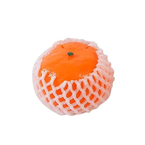 keleiesXD Fruit Squeeze Toy, Naranja Fidget Toy Squeeze Sensor Sosor Squishy Toys Squeeze Steper Stress Ball con Cáscaras Vívidas, Herramientas De Descompresión Regalo para Niños Adultos Qualified