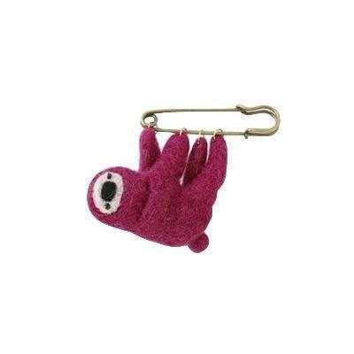 トモコーポレーション ブローチ ピンク ピン部分:約6.5×1.5cm