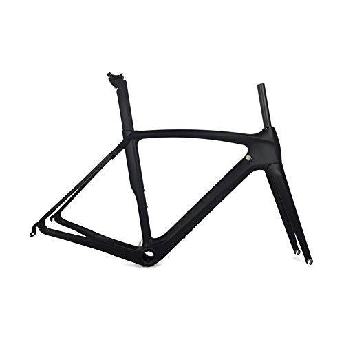 Fasteam UD Matt BB386 Carbon Frame for Road Bicycle with Full Carbon Fiber Fork (57CM)