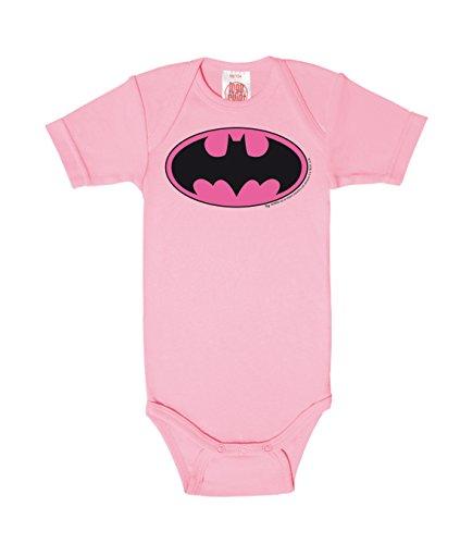 Logoshirt Body para bebé Batman Logotipo Rosa - DC Comics - Batman Logo Pink - Pelele para bebé - Rosa - Diseño Original con Licencia, Talla 62/68, 3-6 Meses
