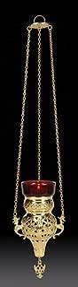 Sudbury Hanging Votive Glass Holder with Ruby Glass