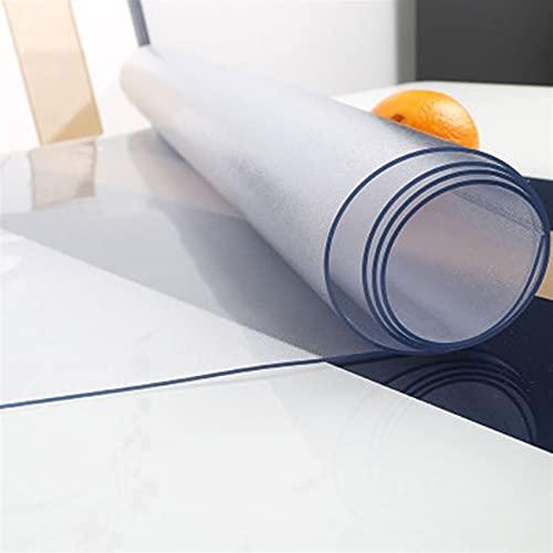 Comida Mesa de Café Protector Mesa Transparente Protector Suelo Plzástico Blando Vaso Mantel Impermeable a Prueba Aceite, Personalizable (Color : 2mm, Size : 100x100cm)