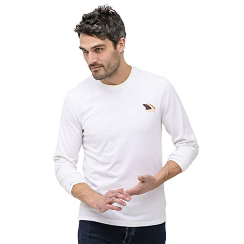 OxbOw Treys T-Shirt Manches Longues Homme, Blanc, FR (Taille Fabricant : XL)
