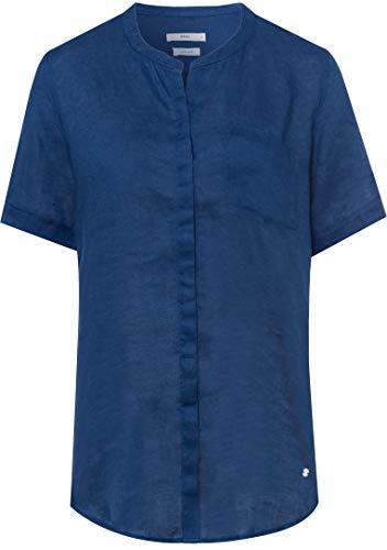 BRAX Damen Style Vania Linen Bluse, Indigo, (Herstellergröße: 38)