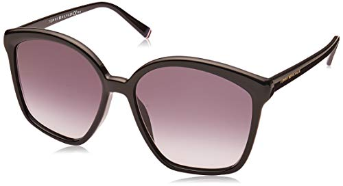 Tommy Hilfiger Damen TH 1669/S Sonnenbrille, Black, 57