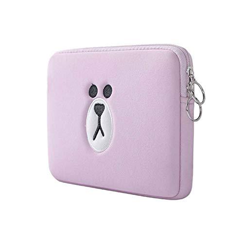 Borsa porta computer con tasca per MacBook Air Pro 11 13 15,6 pollici, motivo: orsetto marrone, rosa (Rosa) - y-F0UG8v3xh0t8G7gez8M6