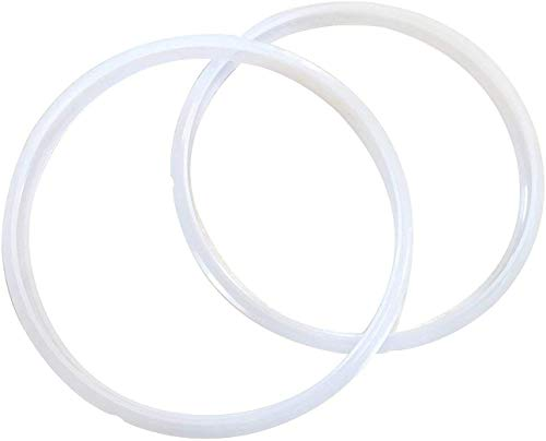 """""""Twin Pack: 2 GJS Gourmet Silicone Sealing Rings Compatible with 10 Quart Instant Pot including Model Duo NOVA 100 (2 Rings, 10 Quart)"""". These rings are not created or sold by Instant Pot."""