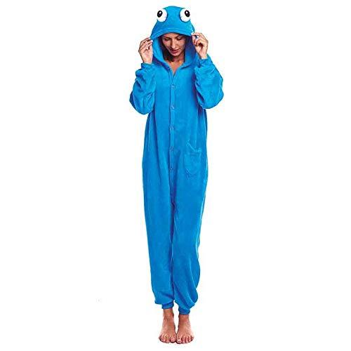 Disfraz Monstruo Azul【Tallas Adultos de S a L】[Talla M] |Disfraz Adulto Carnaval Profesiones Halloween Fiestas Disfraces Obras Teatro Actuaciones