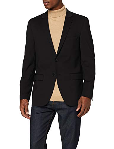 Amazon-Marke: find. Herren Blazer Slim Fit, Schwarz (Black), M, Label: M