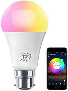 HALOW Smart Light | LED Light Bulb - WiFi Smart - B22 Smart Bulb - 9W RGB | Alexa and Google Home | Dimmable | Timer | Mus...