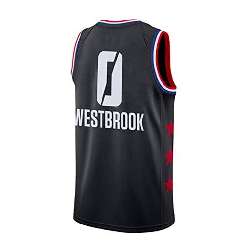 YSA Camiseta de Baloncesto Russell Westbrook 0# NBA Global Star Basketball, Camiseta sin Mangas de los Houston Rockets de la NBA Basketball Swingman XS -XXL