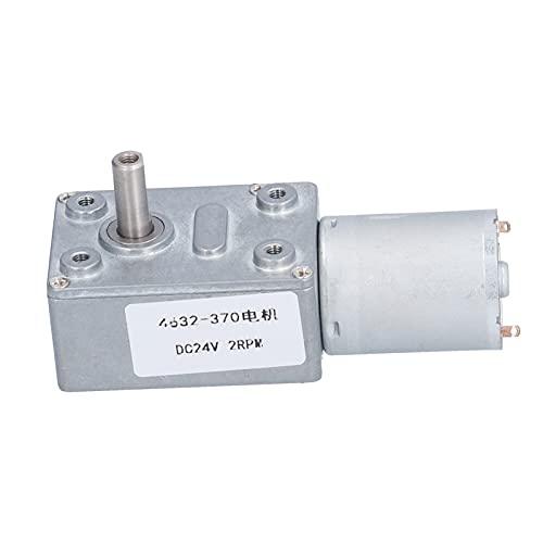 Cyrank Motor de Engranajes de 24 V CC, maquinaria de reducción de Velocidad de Gusano, Piezas de transmisión para niños, Accesorios de Juguetes para Coche, 2 RPM 4632-370
