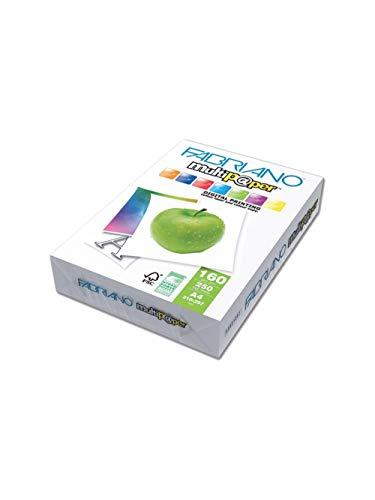 Fabriano Risma Carta Multifunzione (ISO 97006). Formato A4 (21x29,7). Grammatura 160 g m2. Confezione da 250 F.