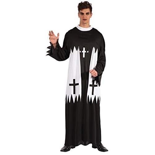 Ciao-Costume Prete Esorcista, taglia unica adulto Uomo, Bianco,nero, 62183