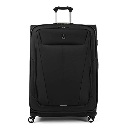 Travelpro Maxlite 5 - Softside Expandable Spinner Wheel Luggage, Black, Checked-Large 29-Inch