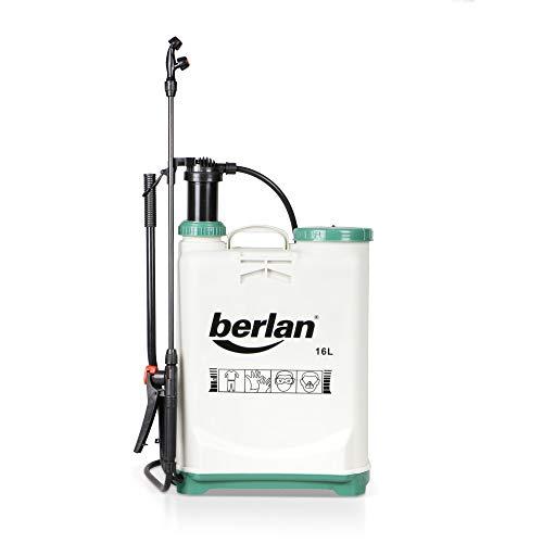 Berlan Pulvérisateur à dos BRS16A - 16 L / 2-3 bar / lance + buses différentes