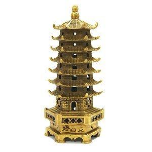 The Petite Brass Pagoda - 5' Feng Shui enhancer for...