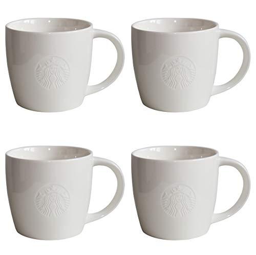 STARBUCKS Mug Grande Fore Here Series White Collectors Set Variaciones - 4 - Grande 16 oz 473 ml