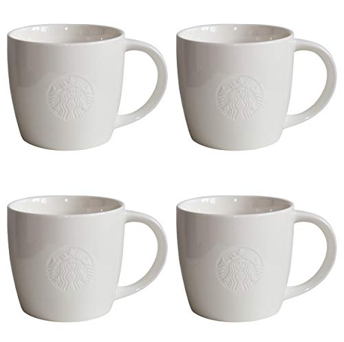 Starbucks Mug Grande Venti Fore Here Serie Weiss Collectors Set Varianten (4, Grande/16oz/473ml)