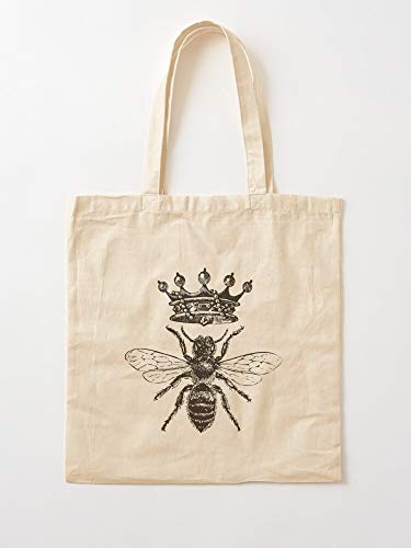Honeybee Bees Honey Garden Save Insects Queen Insect The Bumblebee Life Tote Cotton Very Bag | Canvas Grocery Bags Tote Bags with Handles Durable Cotton Shopping Bags