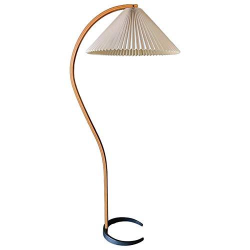 Yxx max -Lámpara de pie Lámpara de pie Plegable Sala de Estar nórdica Dormitorio Arco Lámpara de Piso de Madera Maciza Luz Decorativa