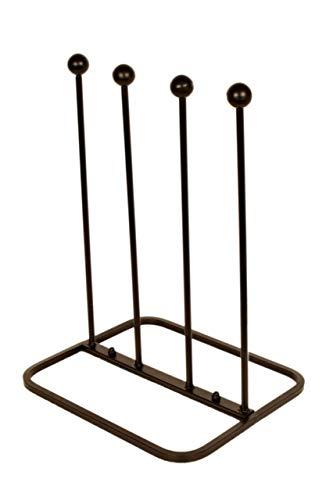 ARSUK Welly Stivali Cremagliera Titolare In piedi Conservazione per Esterni e giardino Calzastivali, Realizzato in metallo (2 Paia Calzastivali Scaffale)