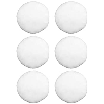 Hometex Canada Pillow Insert 12  Round Polyester Filled Standard Cover  6 Pack