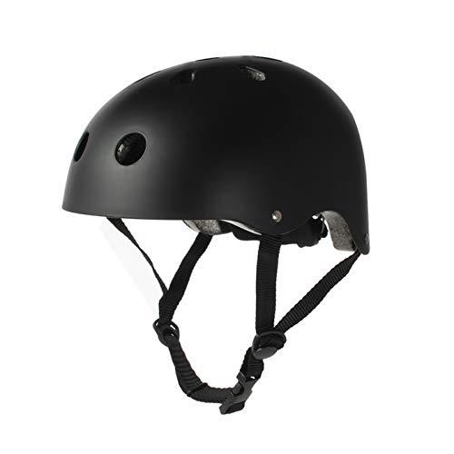 Tourdarson Adult Skateboard Helmet Specialized Certified Protection Multi-Sports for Scooter Skate Skateboarding BMX (Black, Medium)