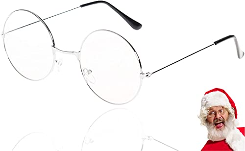 TK Gruppe Timo Klingler Weihnachtsmannbrille Nikolausbrille Brille Nikolaus rund für Nikolauskostüm, Weihnachtsmannkostüm - Verkleidung (1x)