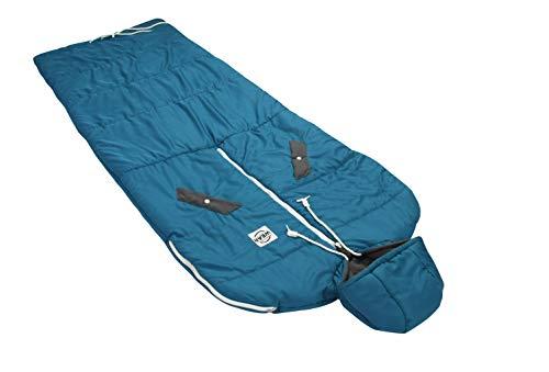 VINSONMASSIF Wearable Sleeping Bag for Camping, Hiking & Outdoors, Lightweight Sleeping Bag (Turkey Blue)