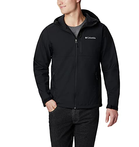 Columbia Men's Ascender Hooded Softshell Jacket, Black, Medium