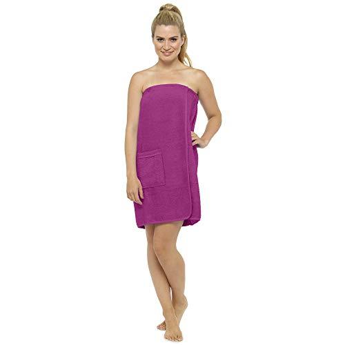 CityComfort, asciugamano da donna, 100% cotone, altamente assorbente, in spugna, morbido, per doccia, spa, spiaggia, palestra, vestaglia Orchidea S-M