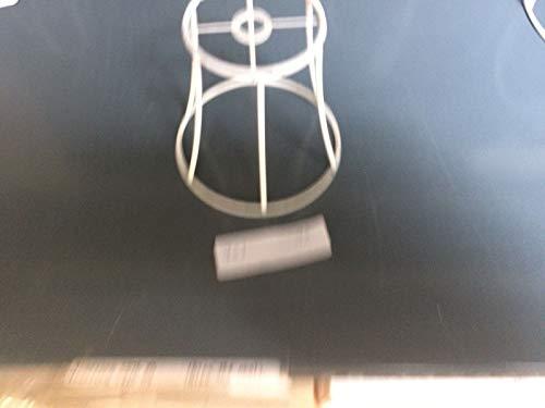 Aufsteck Schirmgestell Lampe Leuchten Retro Vintage weiß Leuchtenschirm Lampenschirm Drahtgestell Kronleuchter (10cm)