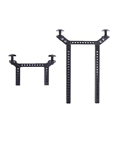 RZXYL Aluminum Front and Rear Body Post Mounts for Traxxas TRX-4 RC Car (Black)